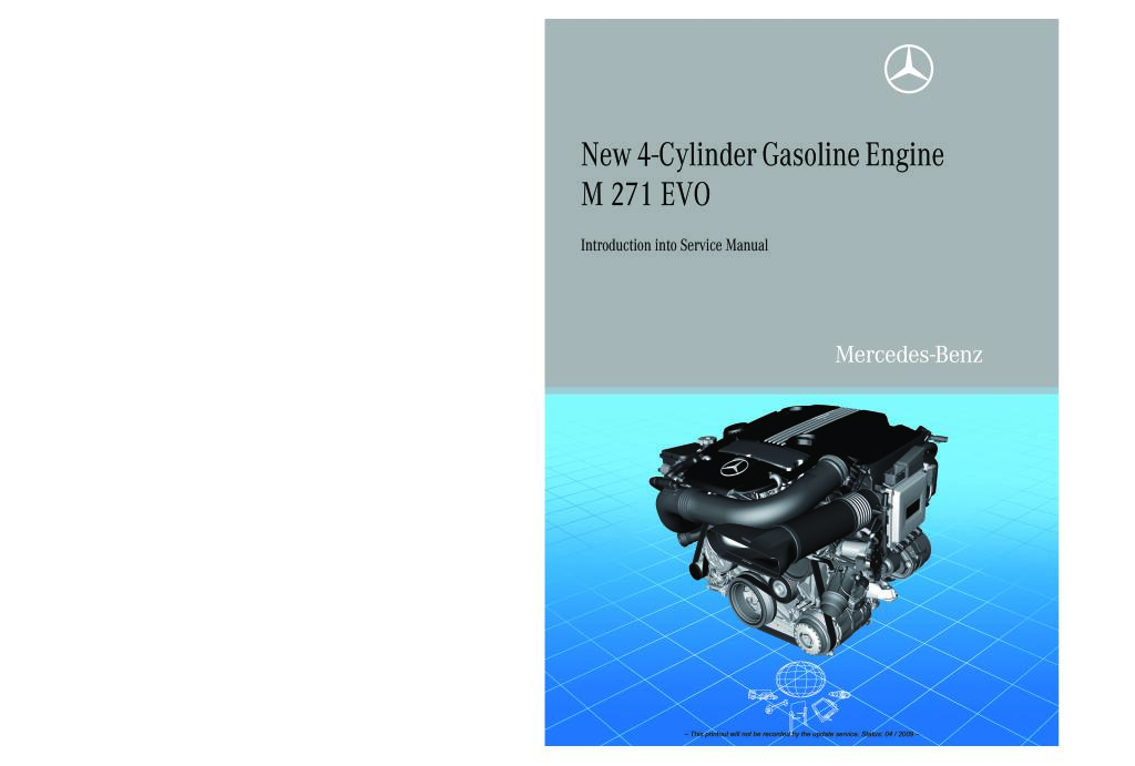 M271 Evo Gasoline Engine Introduction Into Service Manual Pdf 5 69 Mb Engine Repair Manuals English En