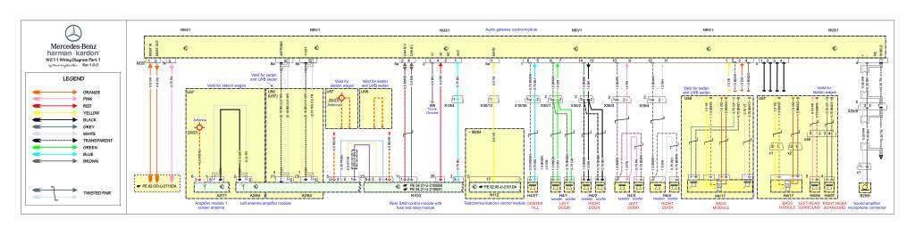 W211 Audio 50 Wiring Diagram Harman Kardon Pdf  472 Kb