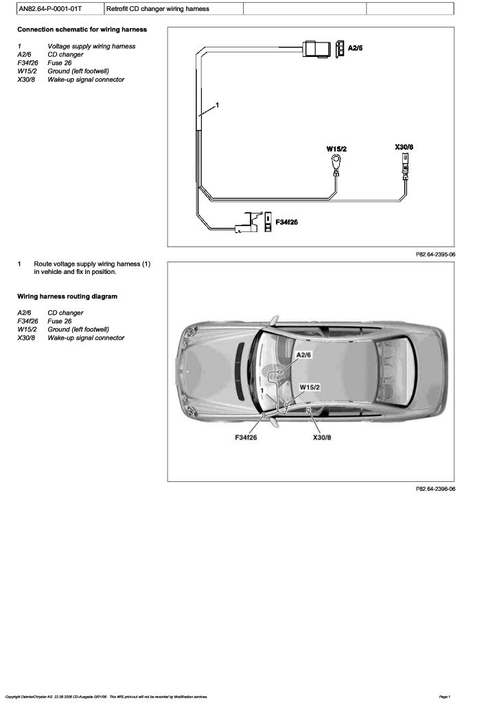 W211 Cd Changer Wiring Harness Retrofitting Pdf  585 Kb