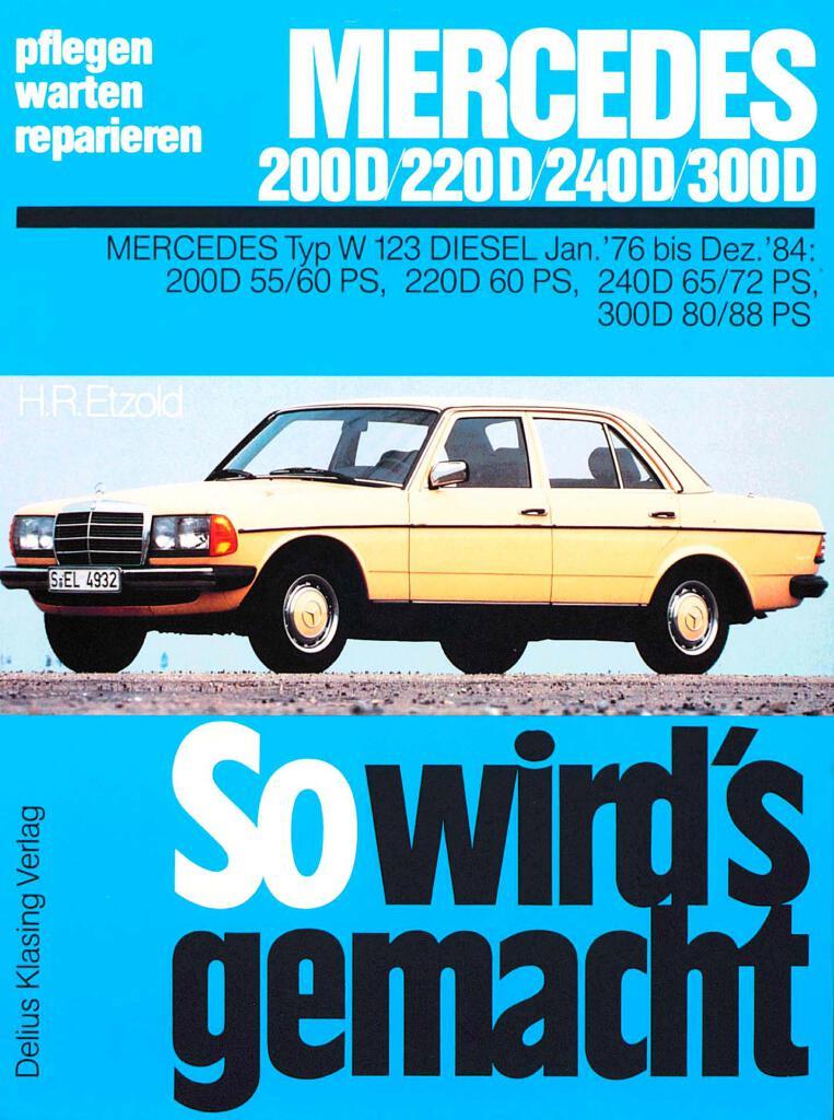 Diagram  Mercedes Benz W123 280e 1976 1985 Full Service