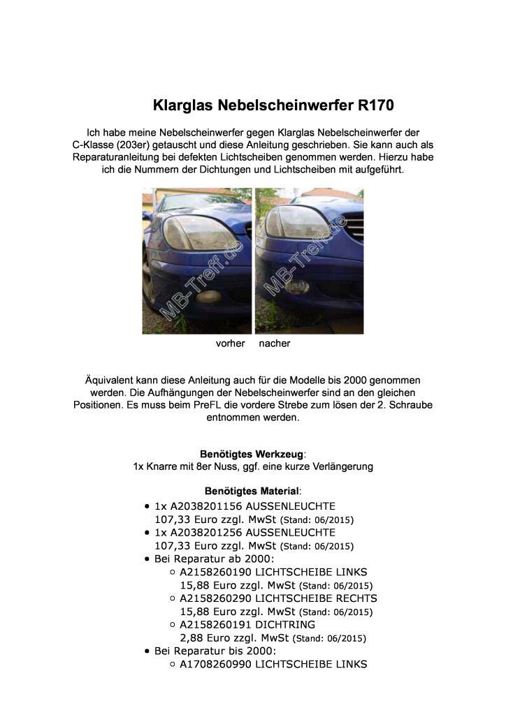 Radhausschale Vorne Links Hinteres Teil für Mercedes SLK-Klasse R170